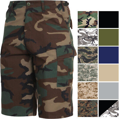 Extra Long Cargo Tactical Shorts Camo BDU Uniform Military Fatigues Below Knee