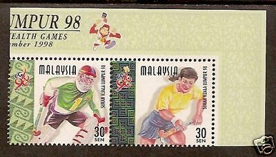 MALAYSIA 1998 COMMONWEALTH GAMES HOCKEY Pair MNH