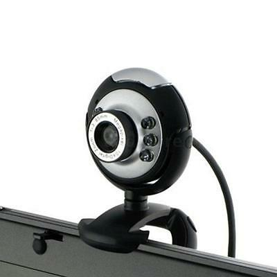 USB 2.0 50.0M 6 LED Video Camera Webcam with Mic For PC Laptop