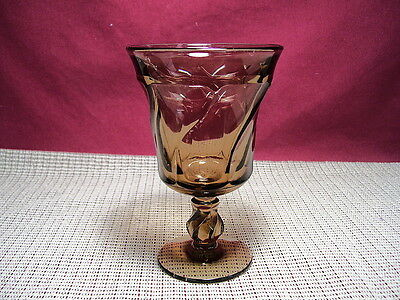 Fostoria Crystal Jamestown Brown Pattern Water Goblert
