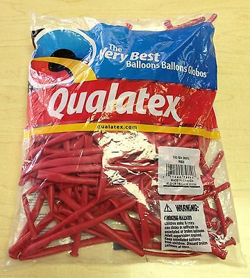 Qualatex Red 260Q Entertainer Balloons ~ 100 ct.