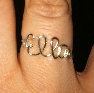 Custom Wire Jewelry Name Ring, Great Personalized Gift!