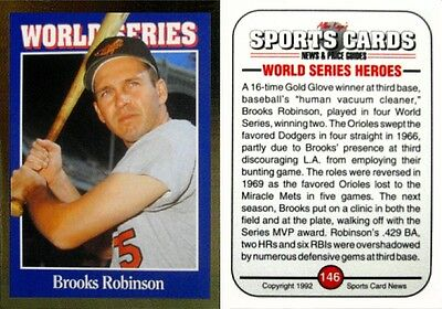 1992 Sports Cards Brooks Robinson - Baltimore Orioles - Hall of Fame - NEAR MINT