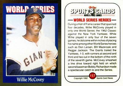 1992 Sports Cards Willlie McCovey - S.F. Giants - Hall of Fame - NEAR MINT