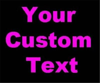 YOUR CUSTOM VINYL LETTER TEXT Personalized Advertise window sign Die Cut
