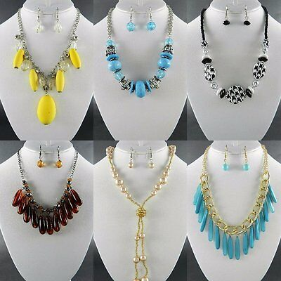 50PC WHOLESALE LOT Costume FASHION JEWELRY NECKLACE EARRINGS(25 sets)