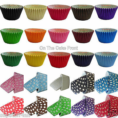 CUPCAKE CASES MUFFIN 12 24 36 48 60 108 180 baking paper Coloured Cake Spotty
