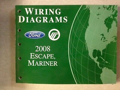 2007 07 ford escape mercury mariner wiring diagrams manual 2008 ford escape and mercury mariner wiring diagrams manual non hybrids