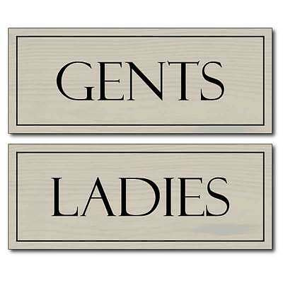 Wooden style toilet signs, Ladies & Gents Loo Door Signs Men & Women Plaques