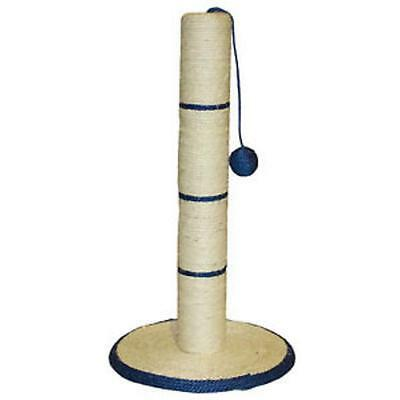Cat Kitten Scratching Scratch Post Large 62cm Tall + Sisal Toy Blue