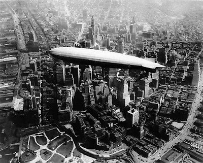 New 8x10 Photo: USS LOS ANGELES Airship over Manhattan New York, 1930