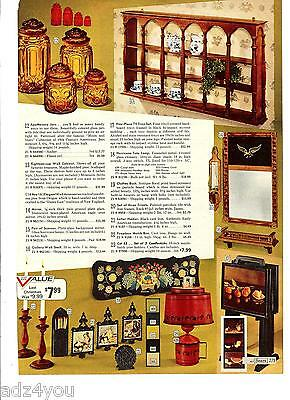 70s Vintage Moon &Stars Glassware Items Catalog Ad~Apothecary/Canister Set Pictd