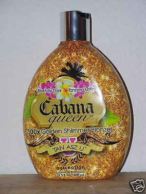 Tan Asz U Inc Cabana Queen 100X  Shimmering Bronzer Tanning Lotion Super Fast!