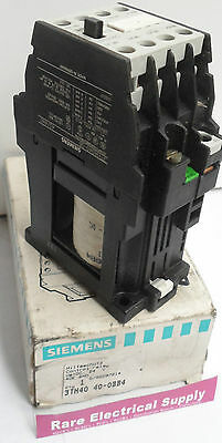 NEW Siemens 40E 3TH40 Control Relay 3TH40400BB4 4NO Coil 24vDC 415v 4kW
