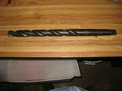 """1-7/32"""" Morse Taper Extra Length Drill High Speed U.S.A. NEW"""