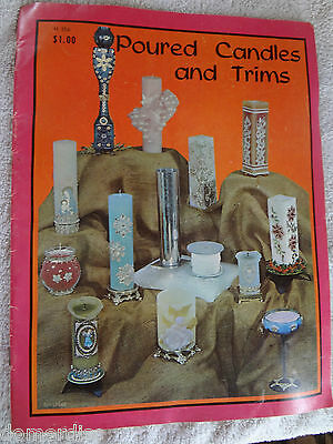 Vtg Poured Candles and Trims Book SC 1965 USA Photos Instruction Making Manual