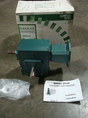 NEW Grove Gear BM226-1A Flexaline Worm Gear Reducer 80011530906