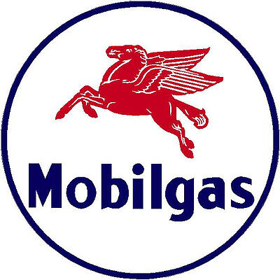 Mobil Gas  Vinyl Decal Sticker (A1512) 12 Inch