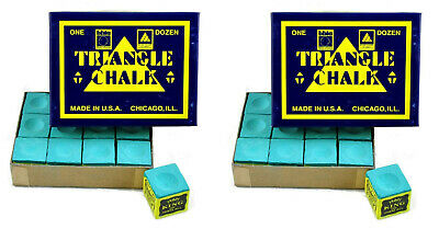 """24 Pieces """"2 x BOX"""" Genuine Triangle Snooker or Pool Cues Tips Chalks-By Tweeten"""