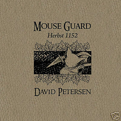 MOUSE GUARD #1 (deutsch) Herbst 1152 LUXUS-HC+signed Print lim.100 Ex. PETERSEN