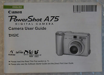 Canon PowerShot A75 Camera User Guide
