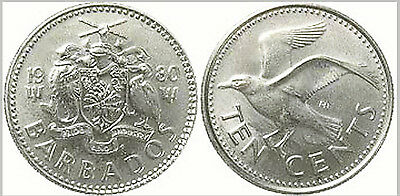 Barbados 1992 10 Cents Uncirculated (KM12)