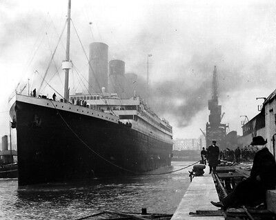New 8x10 Photo: White Star Line Ill-Fated Liner RMS TITANIC Ship in Port, 1912