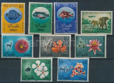 Somalia stamp Fish+Flora and Fauna set(broken and pitted) MNH 1962+1965 WS113837