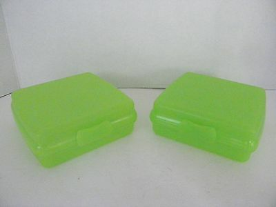 Tupperware Square SANDWICH KEEPER~Set of 2~Eco friendly~One Piece Hinged Design