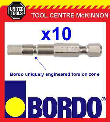 10 x BORDO IMPACT HX5 X 50mm POWER INSERT BITS – GEAT FOR IMPACT DRIVERS!