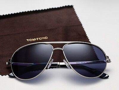 7a85a7fd653 JAMES BOND 007 SKYFALL Blue TOM FORD Aviator Marko Sunglasses TF 144 18V FT  0144