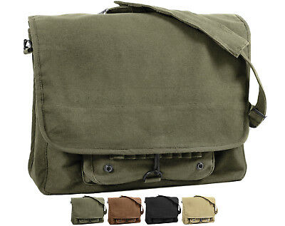 Stonewashed Vintage Style Military Paratrooper Messenger Shoulder Bag