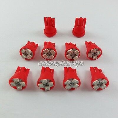 20x 4-SMD Super Red  LED License Plate Light Bulbs 194 T10 2825 921 168