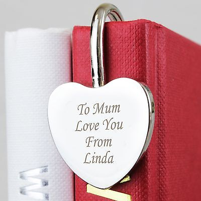 Personalised Silver Heart Bookmark -Free Laser Engraving- Christmas Gift for Her