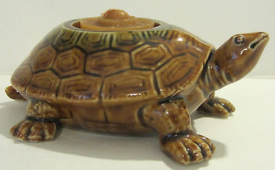 OUR OWN IMPORT JAPAN CERAMIC TURTLE VOTIVE CANDLE HOLDER