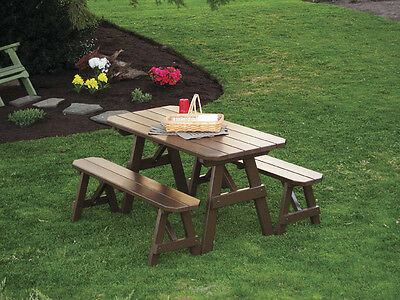 OUTDOOR FOOT Picnic Table With Benches Paint Colors Ft - Picnic table paint colors