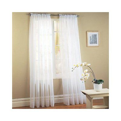 Montauk™ Sheer Grommet Curtains And Rod Pocket Valances - Assorted ...