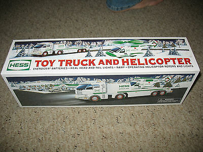 New 2006 Hess Truck, Toy Truck and Heliocopter. in unopened box.