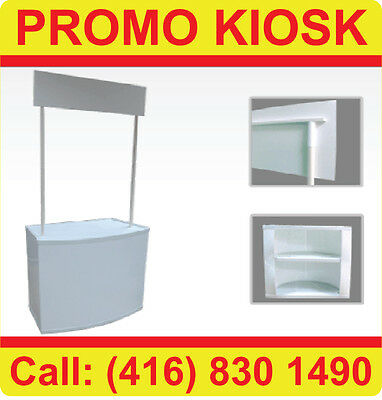 NEW Trade Show Kiosk Counter Table Banner Stand DIsplay with Header (Blank)