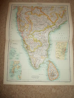 c1900 Map ~ INDIA - SECTION 3  ~ Bartholomew From XXth Century Citizen's Atlas