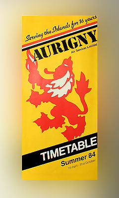 Aurigny Air Services Ltd - Airline Timetable - Summer 1984