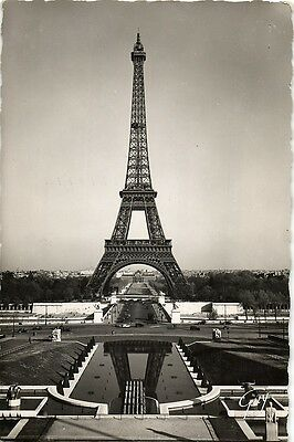 Eiffel tower France paris La tour de Eiffel Real photo postcard 1951