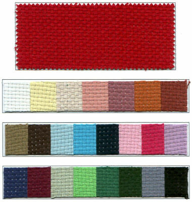 """MONKS CLOTH FABRIC - JAMES THOMPSON & CO. PRODUCT - RED COLOR - 32"""" PIECE"""