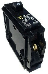 New Square D HOM140 1 pole 40 amp 120V  Plug In Circuit Breaker SqD
