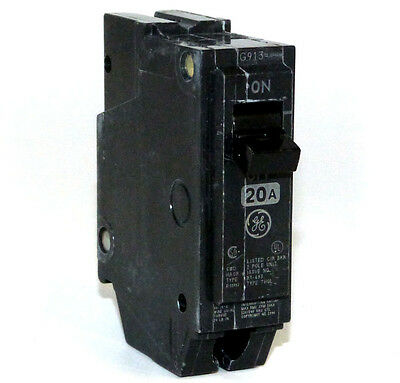 Surplus Panel Pullout GE THQL1120 General Electric 1 pole 20 amp Circuit Breaker
