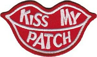 Statements and Sayings - Kiss My Patch Embroidered Patch , Iron / Sew - On