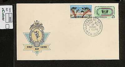 FDC 1962   5d & 2/3 COMMONWEALTH GAMES FDC UNADDRESSED HERMES Clarence St (5935)