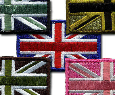 TRF Union Jack Flag Patch 100% Embroidered Merrow Border Velcro/Iron on/Sew on