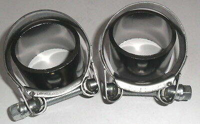 2 X EXHAUST SILENCER CLAMPS & SEALS for HONDA GOLDWING GL1500