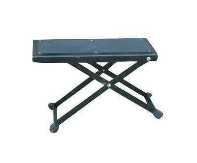 "Guitar Player HD Foot Stool Rest Stand Adjustable 5"" to 10"" Electric & Acoustic"